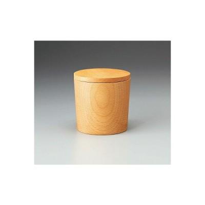 三陶 木製 キャニスター ビーチ 17694 茶筒 保存容器