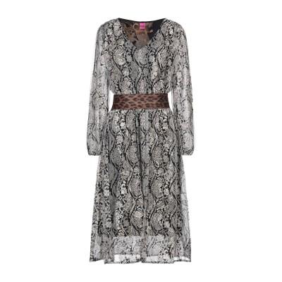SAVE THE QUEEN 7分丈ワンピース・ドレス ブラック XS ポリエステル 92% / ポリウレタン 8% 7分丈ワンピース・ドレス
