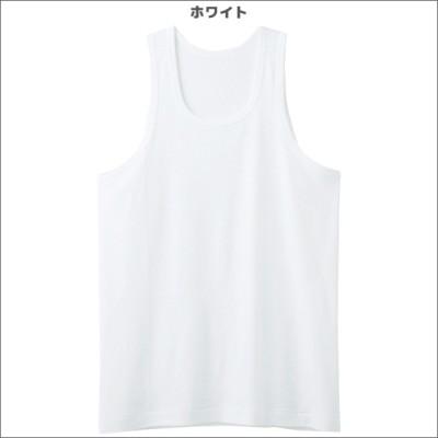 シーズン涼感平台 吸汗速乾 部屋干し対応 ランニングシャツ ノースリーブ タンクトップ 2枚組 Mサイズ Lサイズ グンゼ GUNZE[RC25202-20A](ホワイト×M)