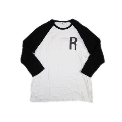 【中古】ロットワイラー ROTTWEILER 七分袖 Tシャツ カットソー ロゴ 切替 L 白 ホワイト 黒 ブラック RW-M6S6034/9 メンズ 【ベクトル 古着】