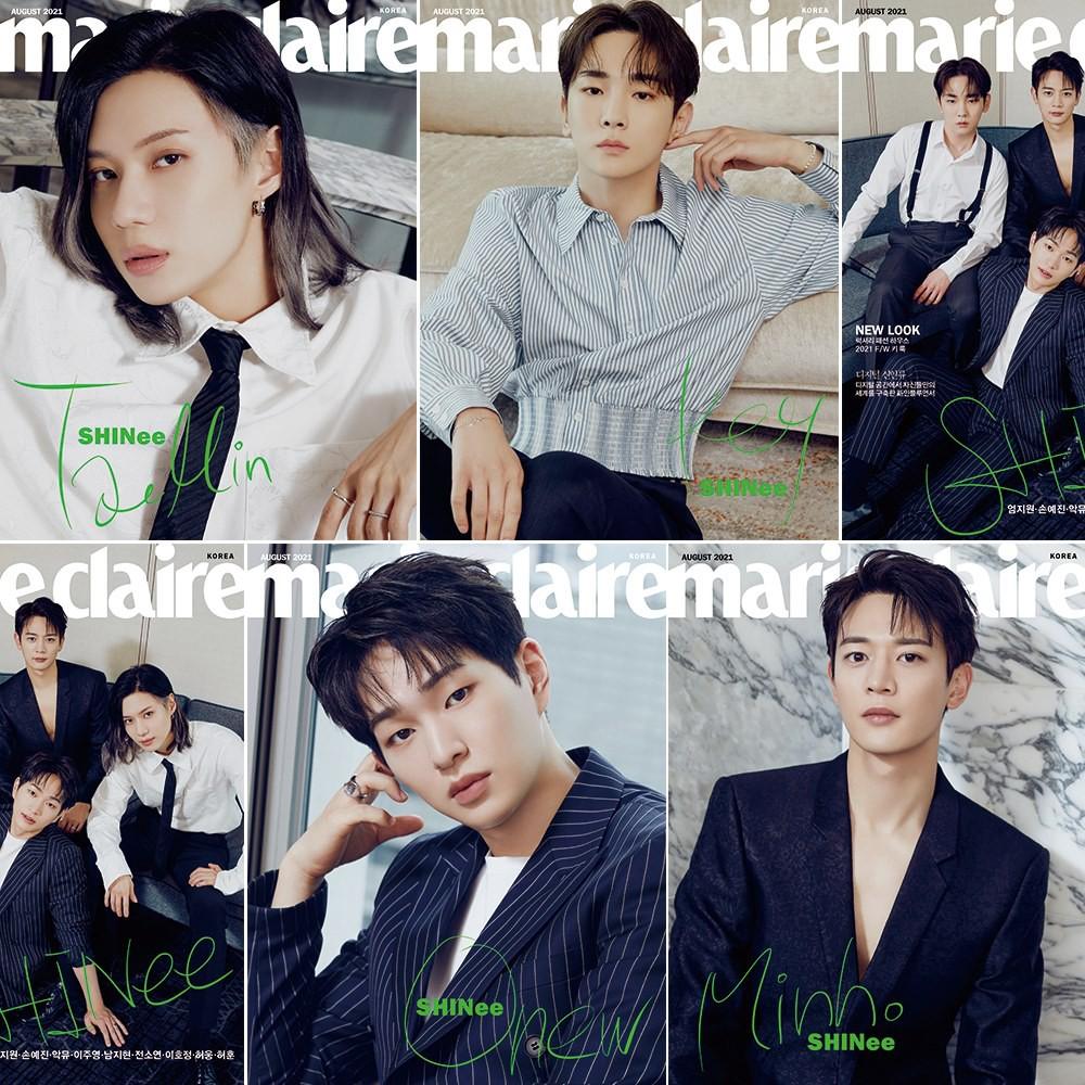 KPM-預購 marie claire (KOREA) 8月號 2021 五款 SHINee 韓國雜誌