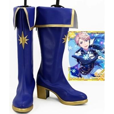 Gargamel コスプレ靴 あんさんぶるスターズ! 光輝★騎士たちのスターライトフェスティバル 鳴上嵐  オーダーサイズ製作可能m3021