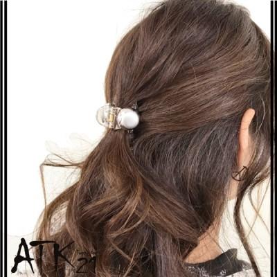 ポイント シルバー ゴールド サークル シンプル 上品 バンスクリップ へアクリップ しっかりホールド 簡単ヘアアレンジ 髪留め レディース ヘアアクセサリー