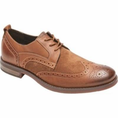 ロックポート 革靴・ビジネスシューズ Wynstin Wing Tip Brogue Tobacco Leather