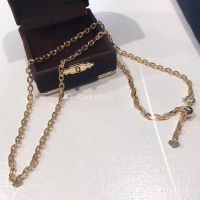 ネックレス 18金 18k 4DC アズキデザインネックレス 45センチ アジャスター付/k18 4dc azuki design necklace 45cm