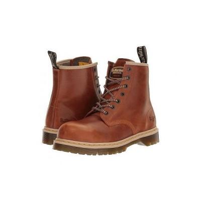 Dr. Martens Work ドクターマーチン メンズ 男性用 シューズ 靴 ブーツ 安全靴 ワーカーブーツ Icon 7B10 - Tan Industrial Waxy