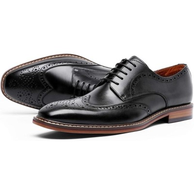 フォクスセンス ビジネスシューズ 本革 革靴 紳士靴 ウイングチップ メンズ 外羽根 ドレスシューズ ブラック 27.5CM DS6737-