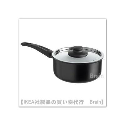 IKEA/イケア HEMLAGAD 片手鍋 ふた付き2 L ブラック