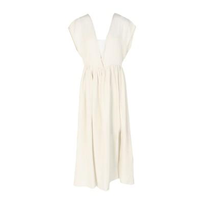 POMANDÈRE 7分丈ワンピース・ドレス ライトグレー 38 シルク 100% 7分丈ワンピース・ドレス