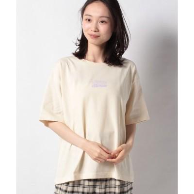 【アースミュージック&エコロジー】ellesse×earthレターロゴTシャツ