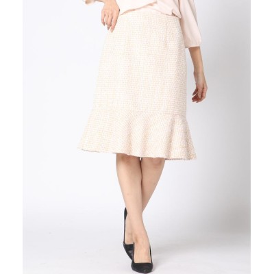 【ケティ】 カラーモールツィードスカート レディース ピンク M(2) ketty