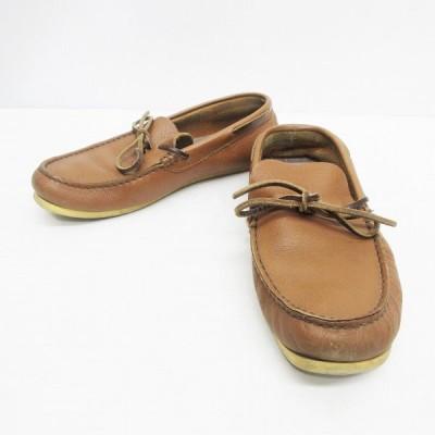 【中古】スナイプ SNIPE モカシン 靴 シューズ レザー 本革 (23.5cm〜24cm相当) 茶 ブラウン系 レディース 【ベクトル 古着】