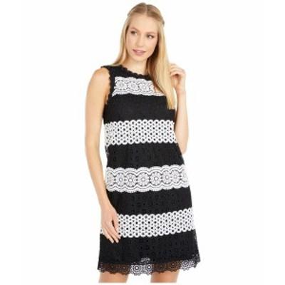 ケイト スペード レディース ワンピース トップス Floral Dot Lace Shift Dress Black