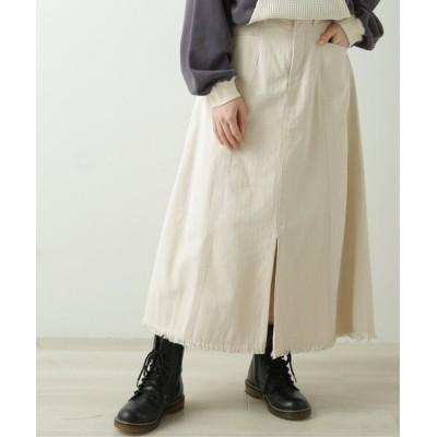 DOUBLE NAME / スリットフリンジスカート WOMEN スカート > スカート