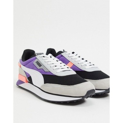プーマ メンズ スニーカー シューズ Puma Future Rider sneakers in purple Puma black/purple