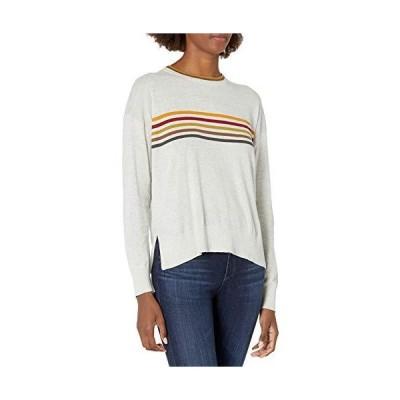 Velvet by Graham & Spencer Women's Melody Stripe Sweater, Light Heather Gre