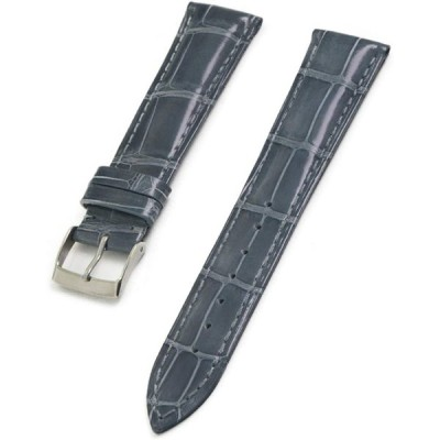 CASSIS[カシス] ワニ革 時計ベルト 裏面防水 ADONARA CAOUTCHOUC SHINY アドナラカウチックシャイニー 21mm グレー