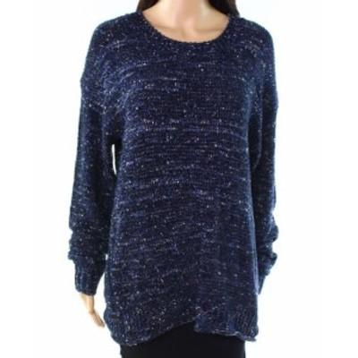 ファッション トップス Allie & Rob NEW Blue White Womens Size PXL Petite Knitted Sweater