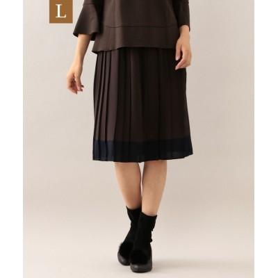 【サンヨー エルサイズ】 ノルディスジョーゼットプリーツスカート レディース ブラウン 44 SANYO L SIZE