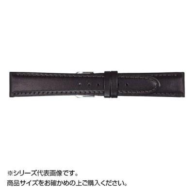 MIMOSA(ミモザ) 時計バンド EMカーフ 19mm ブラック (美錠:銀) CEM-A19 バンド