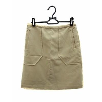 【中古】ユナイテッドアローズ UNITED ARROWS スカート タイト ひざ丈 40 ベージュ /AKK18 レディース