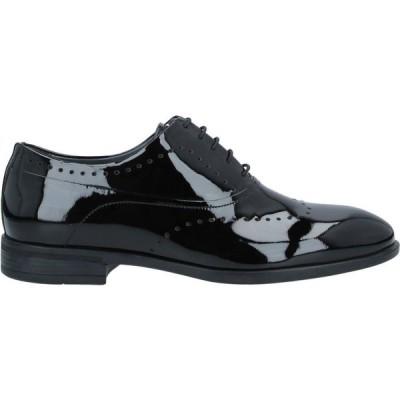 カルロピニャテッリ CARLO PIGNATELLI メンズ 革靴・ビジネスシューズ シューズ・靴 Laced Shoes Black