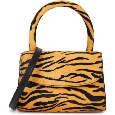 バイ ファー BY FAR レディース ハンドバッグ バッグ Mini Tiger-Print Calf Hair Top Handle Bag Yellow
