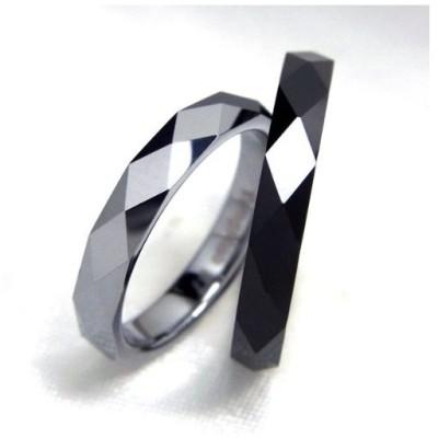 指輪 タングステン 3mm リング ブルー15号