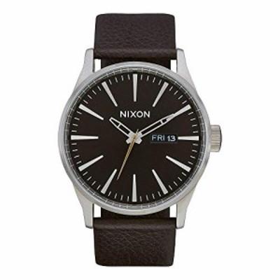 腕時計 ニクソン アメリカ Nixon Men's Sentry Leather Analog Watch in Color: Dark Cedar/Dark Brown