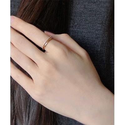 指輪 K18YG ファインライン リング