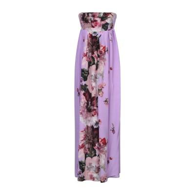 KITAGI® ロングワンピース&ドレス ライトパープル 42 シルク 100% ロングワンピース&ドレス