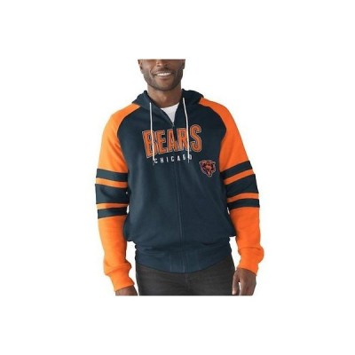 フットボール NFL ジースリー スポーツ バイ カール バンクス G-III Sports by Carl Banks Chicago Bears Navy Kickoff Full-Zip Hoodie