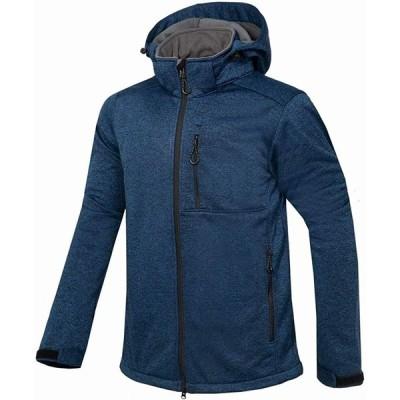LANBAOSI アウトドア ソフトショールジャケット メンズ マウンテンパーカー 裏ボア 防風防水防寒 多機能 ジャンパー 登山バイク釣り 保温ウェ