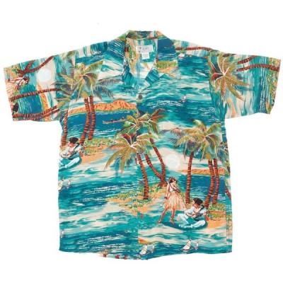 送料無料!AVANTI アバンティ ビンテージ アロハシャツ 「Hula」 100%シルク ハワイ直輸入 ハワイアンシャツ
