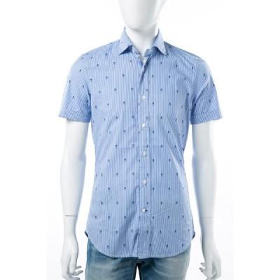 ハイドロゲン シャツ 半袖 メンズ 140409 ブルー HYD大量入荷 HYDROGEN