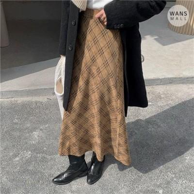 Wansmall レディース スカート sk3442 dolls check long skirt