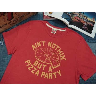 HOMAGE T SHIRTS [AIN'T NOTHIN' BUT A PIZZA PARTY] / オマージュ プリントTシャツ