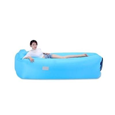(新品) OJESS Inflatable Lounger,Air Sofa with Headrest and Side Pockets for Indoor or Outdoor Camping,Beach,Swimming Pools