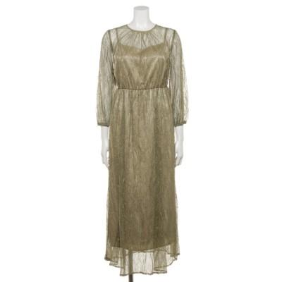 Dorry Doll (ドリードール) レディース 【Luxe Brille】総チュールレースドレス イエローグリーン L