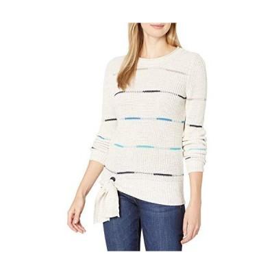 NIC+ZOE Women's Sweater, Milk White Heather, L並行輸入品 送料無料
