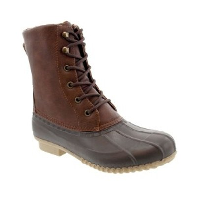 ロンドンフォグ レディース ブーツ&レインブーツ シューズ Women's Wynter Duck Rain Boot Cognac, Dark Brown