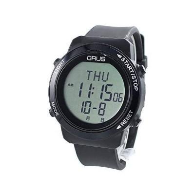 グルスGRUS ウォーキング ウォッチ 歩数計 歩幅計 簡単操作 健康グッツ メンズ レディース 男女兼用 腕時計 国内正規品 (GRS00