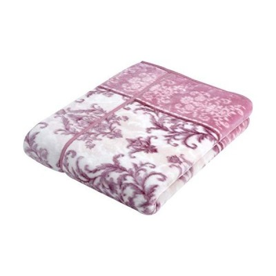 西川(Nishikawa) 毛布 ピンク シングル 140×200cm あったか 洗える 衿つき 合わせ リバーシブル 2CQ3026
