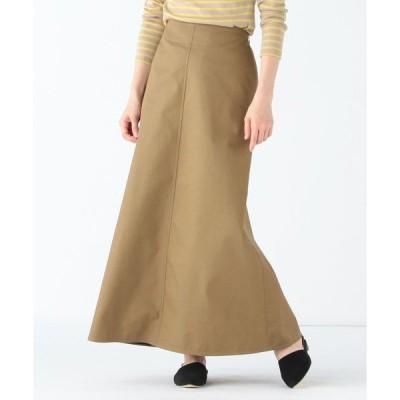 スカート Demi-Luxe BEAMS / コットンチノ ロングスカート