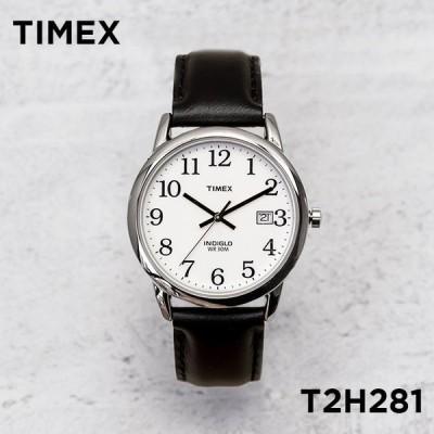 日本未発売 TIMEX タイメックス イージーリーダー 35MM T2H281 腕時計 メンズ レディース アナログ シルバー ホワイト 白 レザー 革ベルト 海外モ