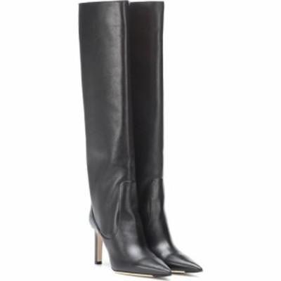 ジミー チュウ Jimmy Choo レディース ブーツ シューズ・靴 mavis 85 leather boots Black