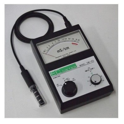 竹村電機製作所:ポータブル型アナログEC計 0〜5mS指数目盛 土壌測定向き CM-53