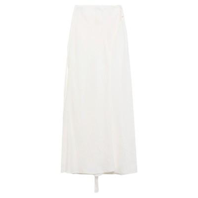 アルマーニ ジーンズ ARMANI JEANS ロングスカート ホワイト 44 リネン 100% ロングスカート