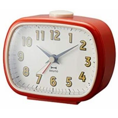 BRUNO ブルーノ レトロスクエアアラームクロック レッド 時計 置時計 目覚まし時計 目覚まし アナログ時計 おしゃれ お洒落 お祝い かわ