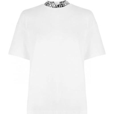 ヒューゴ ボス HUGO レディース Tシャツ トップス Dorene H Neck T Shirt White